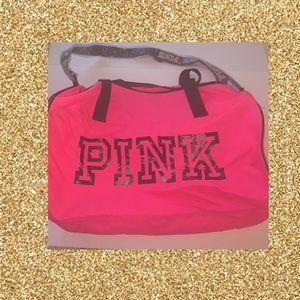 Hot Pink ( Pink/Victoria Secret ) Duffle Bag.